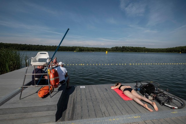 Już od soboty plaże przy miejskich kąpieliskach zapewne się zaludnią. Na zdjęciu kąpielisko nad Jeziorem Strzeszyńskim