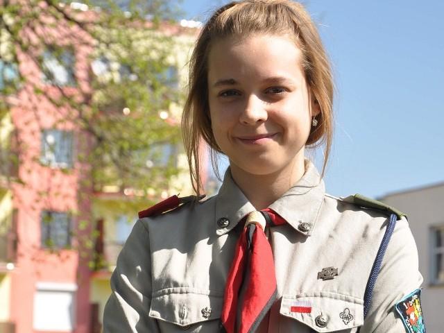 Natalia Ladorucka prowadzi gromadę zuchową w Świeciu