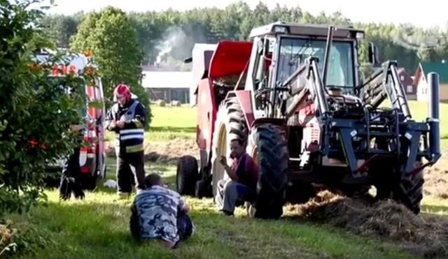 Makabryczny wypadek. Maszyna wciągnęła rękę rolnika