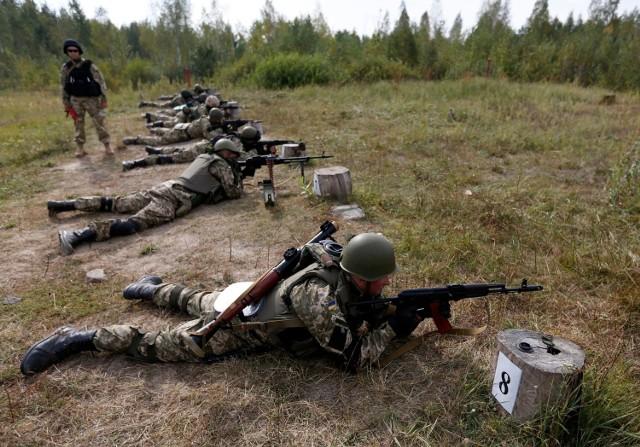 Ćwiczenia ukraińskiej armii