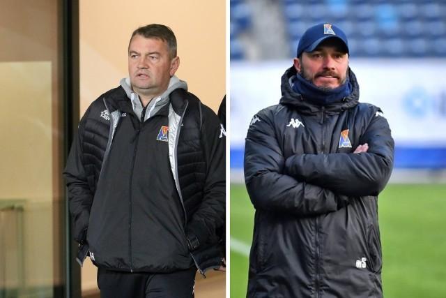 Mirosław Hajdo (z lewej), były trener Motoru Lublin i Marek Saganowski, obecny trener żółto-biało-niebieskich