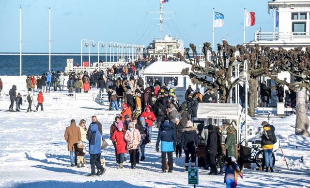 Słoneczny zimowy weekend w Sopocie