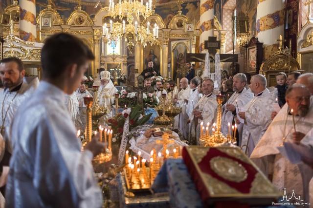 Ostatnie pożegnanie ks. Mikołaja Mielniczuka w cerkwi w Mielniku