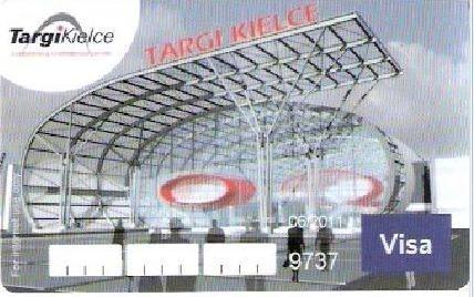 Tak wygląda karta do płatności internetowych Targów Kielce, wydana przez Bank Zachodni WBK