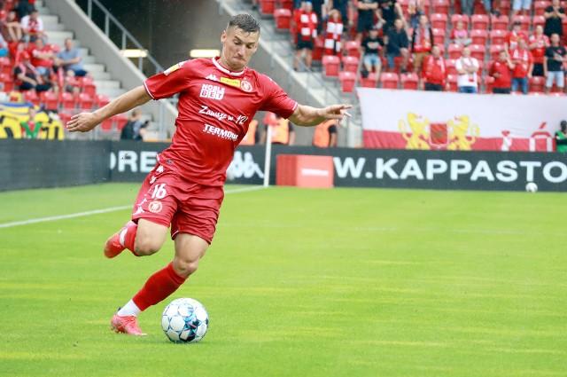 Karol Danielak zdobył gola po uderzeniu głową