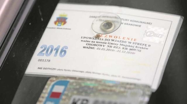Urzędnicy i radni planują, aby od nowego roku obowiązywały przejrzyste zasady wydawania wjazdówek do centrum Krakowa
