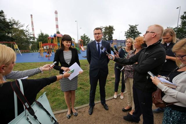 Konferencja przy Węglowej w Białymstoku dotycząca Budżetu Obywatelskiego 2017 w Białymstoku