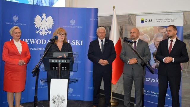 Opolski Urząd Wojewódzki. Konferencja prasowa podsumowująca spis powszechny w regionie
