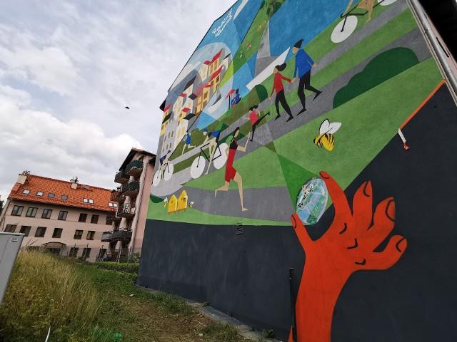 Ekologiczny mural w Chrzanowie