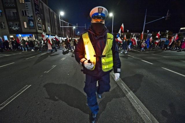"""W środę odbył się kolejny protest mieszkańców w Koszalinie, tym razem pod hasłem """"Marsz Tysiąca Flag w Koszalinie"""""""