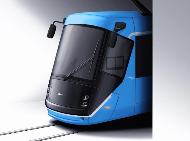 Tak będzie wyglądał przód tramwaju skoda 16T po remoncie, którą teraz przechodzą te pojazdy
