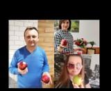 Wielka akcja Apple Challenge, jedzą jabłka dla chorego Bartusia Przychodzkiego z Sandomierza. Zobacz kto dołączył. Są znane osoby [ZDJĘCIA]