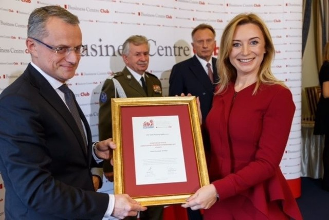 Nagrodę w imieniu zarządu Vive Group odebrała Agnieszka Servaas, wiceprezes zarządu.