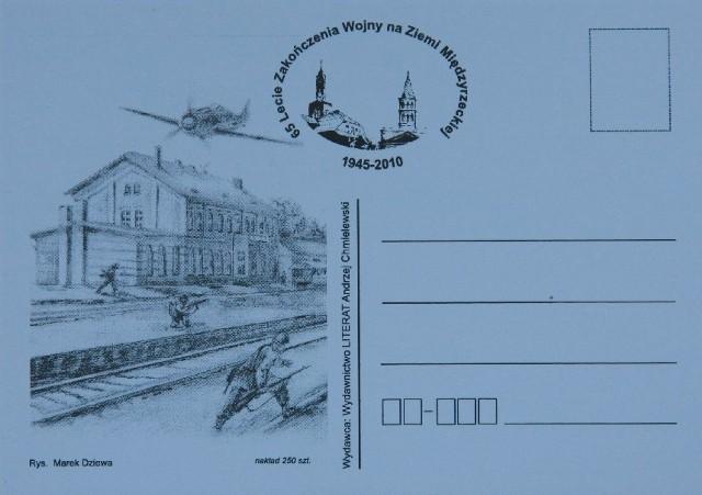 Jedna z pocztówek wydanych przez Andrzeja Chmielewskiego z okazji sobotniego Święta Osadnika.