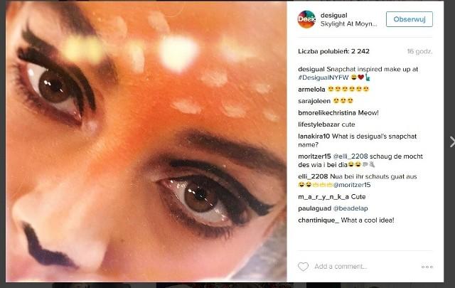Modelki Desigual miały makijaż jak ze Snapchata