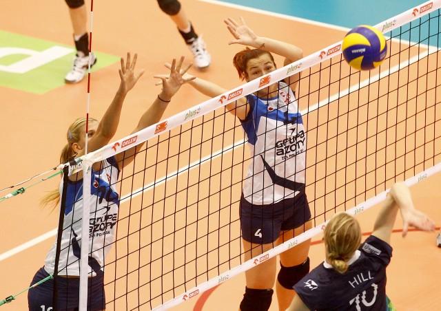 Katarzyna Gajgał-Anioł (blokuje z prawej) dała bardzo dobrą zmianę, która pomogła wygrać w Sopocie.