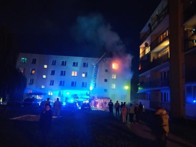 Pożar mieszkania w Augustowie