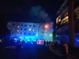 Augustów. Spłonęło mieszkanie. Kobietę przewieziono do szpitala
