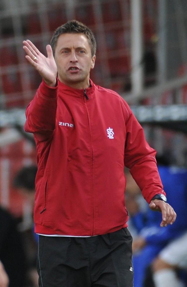 Trener ŁKS Wojciech Robaszek ma powody do niepokoju