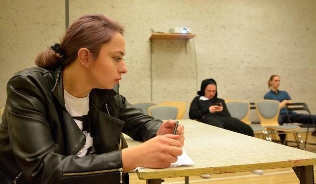 """Zbrodnia Kamila N. i Zuzanny M. stała się inspiracją do powstania spektaklu """"Enterorestes"""". Na zdjęciu próba spektaklu"""