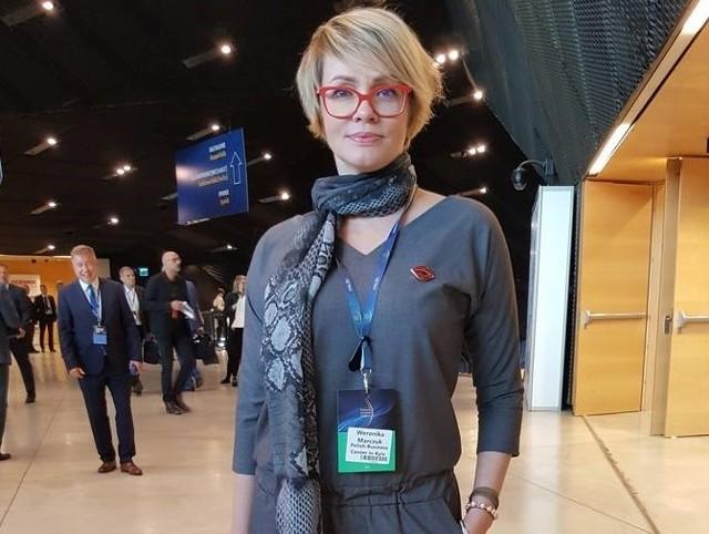 Najlepiej ubrane panie podczas 10. edycji Europejskiego Kongresu Gospodarczego:Weronika Marczuk - Polish Business Center in Kyiv