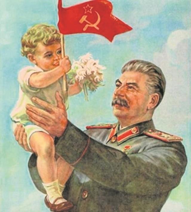Józef Stalin na propagandowym plakacie