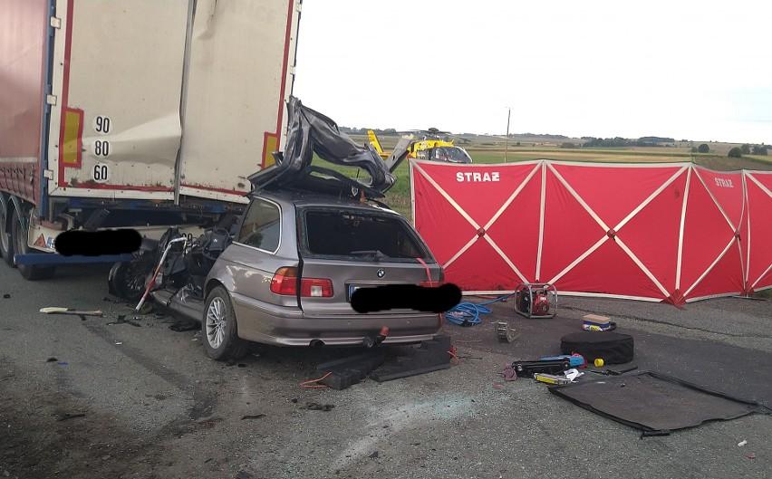 Strażacy z OSP w Jordanowie Śląskim jako pierwsi dotarli na...