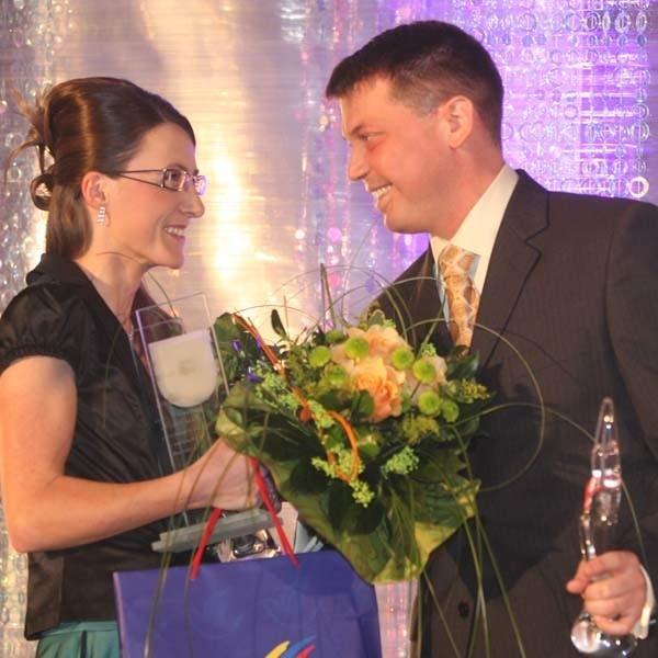 Sylwia Kapusta i Grzegorz Grzyb gratulowali sobie zwycięstwa w Plebiscycie Nowin.
