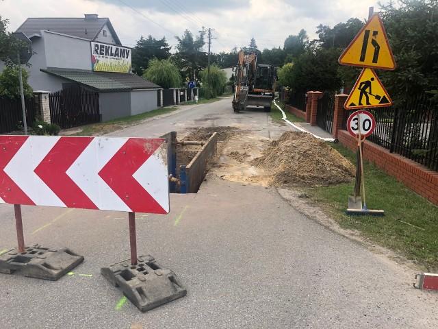 Prace rozpoczęły się na ulicy Brzozowej, później będą prowadzone na kolejnych ulicach osiedla Borki.