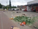 Targowisko Dolna-Ceglana: Gdy handlarzy i klientów już nie ma... ZDJĘCIA
