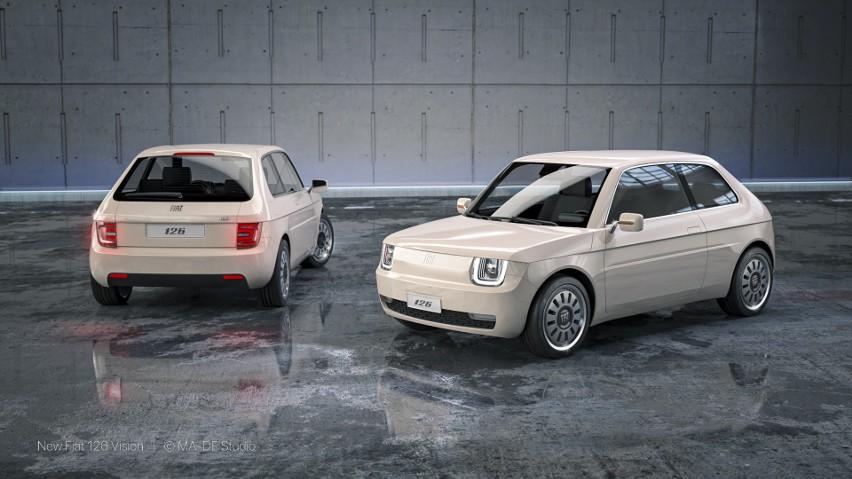 Nowy Fiat 126p jako elektryk! Maluch Vision czaruje! Jak Wam się podoba taka modyfikacja? ZDJĘCIA 2.07.2021