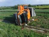 Bochnia-Brzesko. Wypadek na autostradzie A4. Samochód dostawczy rozbił się na pasie w kierunku Tarnowa