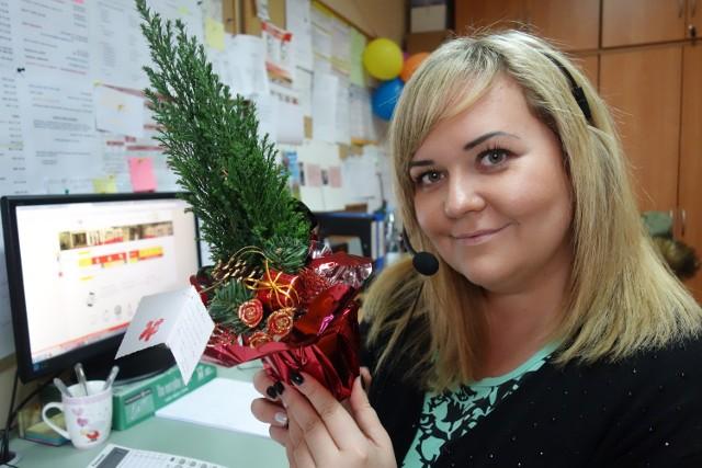 Joanna Rudnicka pierwszy raz otrzymała prezent od osoby korzystającej z infolinii MPK