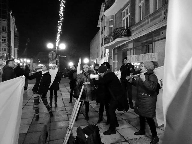 W piątek czlonkowie KOD protestowali w Gorzowie