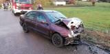 Wypadek na drodze Jasionówka - Kujbiedy. Kobieta trafiła do szpitala (zdjęcia)