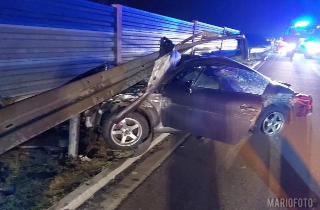 Nocny wypadek na A4.