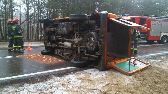 Zdjęcie z wypadku w Koźlikach przesłał nam jeden z Internautów