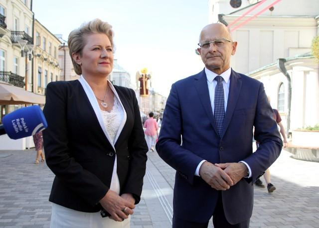 Bożena Lisowska i Krzysztof Żuk