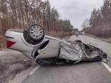 Wypadek w Brachlewie (gm. Kwidzyn). Na DK55 zderzyły się dwa samochody osobowe. Poszkodowaniu trafili do szpitala [ZDJĘCIA]