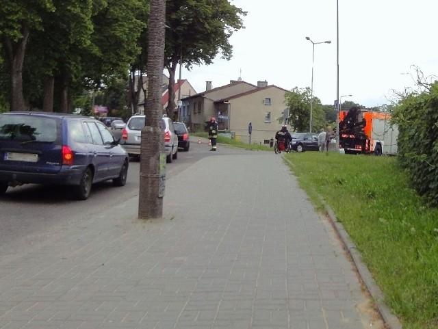 Kobieta, która ucierpiała w wypadku została ptrzewiziona do szpitala