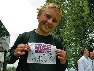 Paweł (13 lat) radził sobie podczas lokalnych konkursów, teraz próbuje wskoczyć na ekran FOT. ŁUKASZ GRZYMALSKI