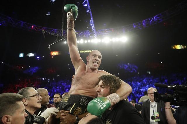 Tyson Fury po zwycięstwie nad Deontayem Wilderem w MGM Grand, Las Vegas