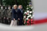 Prezydent Andrzej Duda z małżonką na uroczystościach w Wytycznie