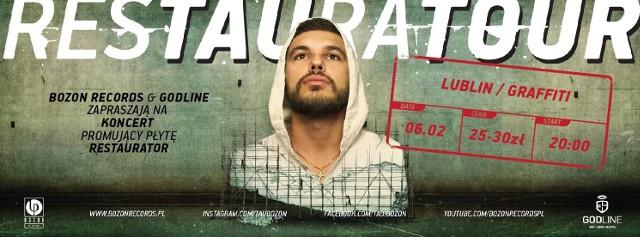 """W Graffiti - TauTau, znany też jako Piotr Kowalczyk lub Medium, kielecki raper i beatboxer, w hip-hopie siedzi od 2000 roku. Ma na swoim koncie współpracę z Asfalt Records i z producentem Galusem. Tau wydał właśnie solową płytę """"Restaurator"""", wydaną przez Bozon Records. W Graffiti wykona utwory z niej, ale też kawałki z innych swoich projektów. Na scenie towarzyszyć mu będzie DJ Wuaz. Sobota, Graffiti, al. Piłsudskiego 13, godz. 20.00, bilety 25 - 30 zł"""
