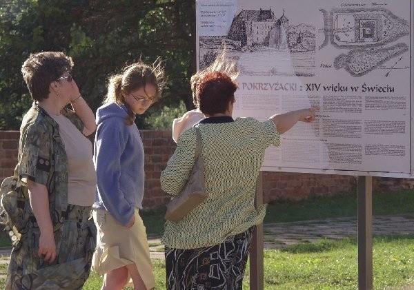 W minioną niedzielę osoby, które odwiedzały  świecki zamek musiały zadowolić się  oglądaniem warowni z zewnątrz.