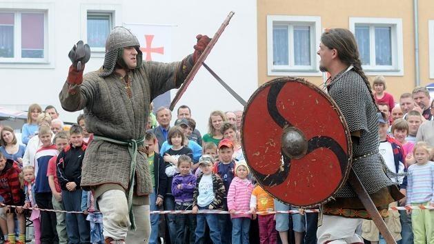 Przez prawie cały Jarmark Strzelecki będziemy mogli podziwiać rycerzy i inne średniowieczne klimaty