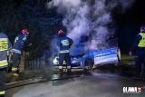 Pod Wrocławiem spłonął policyjny radiowóz [ZDJĘCIA]