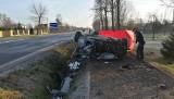 Śmiertelny wypadek w gminie Sieradz. Zginął 24-latek [zdjęcia]