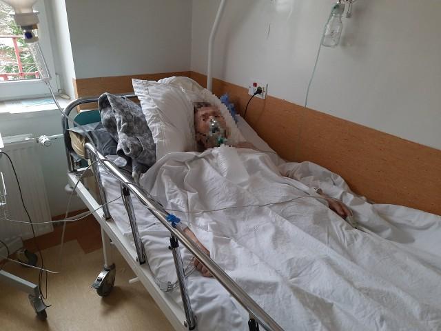 Leczenie pacjentów ma oddziale covidowym - Klinika Chorób Zakaźnych i Hepatologii USK w Białymstoku przy ul. Żurawiej.