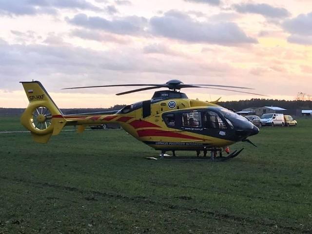 Do groźnego wypadku doszło w środę po godz. 16.00 między Śremem i Kórnikiem. W miejscowości Niesłabin potrącony został mężczyzna. Lądował śmigłowiec Lotniczego Pogotowia Ratunkowego.